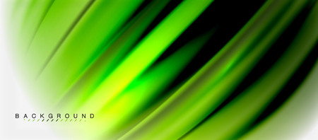 Blurred green fluid colors background, abstract waves lines, mixing colours with light effects on light backdrop. Vector artistic illustration for presentation, app wallpaper, banner or posters Illustration