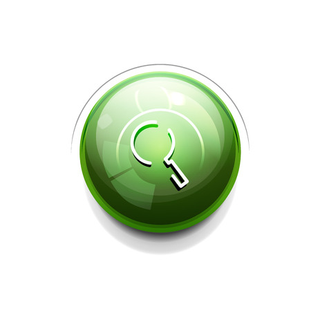 Search magnifyier web button, magnify icon. Modern magnifying glass sign, web site design or mobile app Stock Illustratie