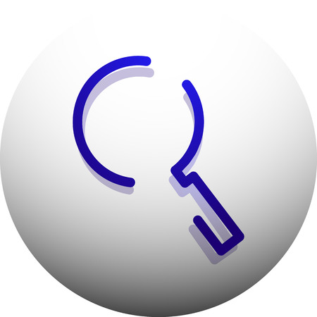 Zoek vergrootglas web knop, pictogram vergroten. Modern vergrootglapteken, websiteontwerp of mobiele app