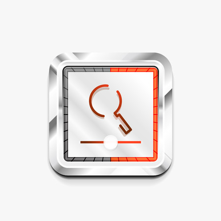 Search magnifier web button, magnify icon. Modern magnifying glass sign, web site design or mobile app. Vector illustration