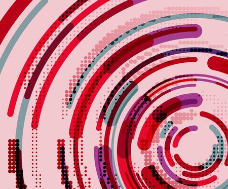 Circular lines circles, geometric abstract background. Vector illustration Ilustração