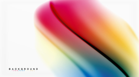 Swirl fluid flowing colors motion effect, holographic abstract background. Vector illustration 일러스트