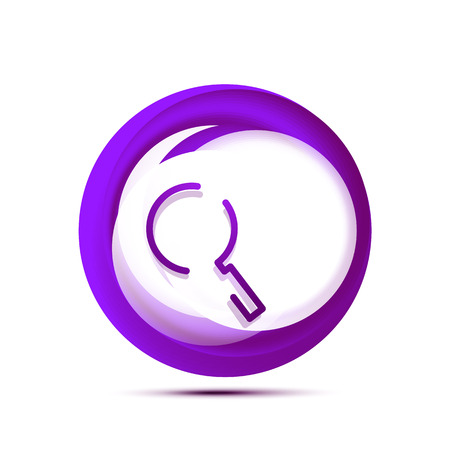 Search magnifier web button, magnify icon. Modern magnifying glass sign, web site design or mobile app