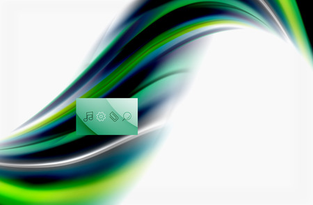 Rainbow color waves, vector blurred abstract background Ilustrace