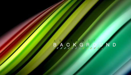 Fluid mixing colors, vector wave abstract background 免版税图像 - 101968115