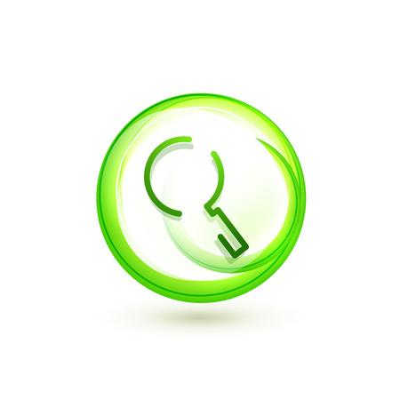 Rechercher le bouton web de la loupe, agrandir l'icône. Signe de loupe moderne, conception de site Web ou application mobile. Illustration vectorielle Vecteurs