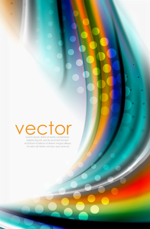 Rainbow color waves, vector blurred abstract background Vettoriali