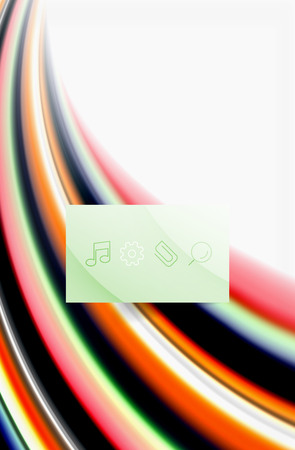 Rainbow color waves, vector blurred abstract background Vectores