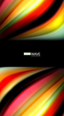 Blur color wave lines abstract background Vectores