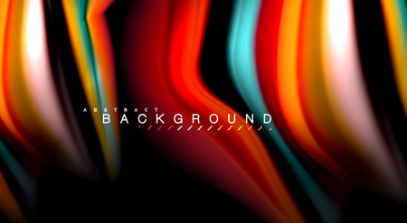 Blur color wave lines abstract background Stock Illustratie