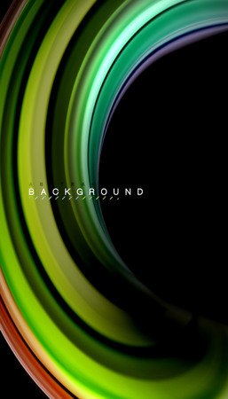 Fluid mixing colors, vector wave abstract background 免版税图像 - 102097827