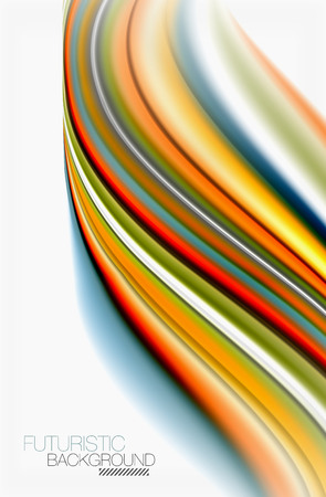Rainbow color waves, vector blurred abstract background Illustration