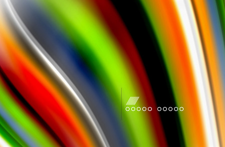 Rainbow color waves, vector blurred abstract background Ilustração