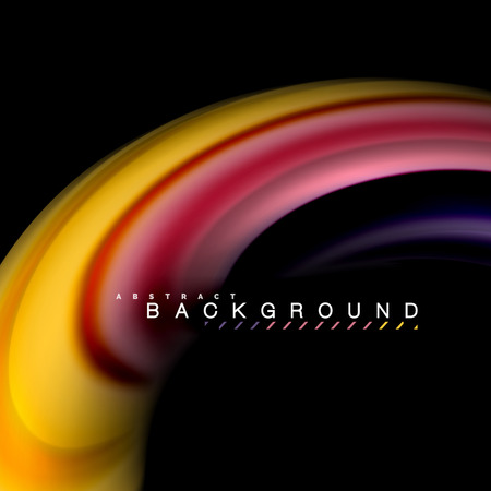 Fluid mixing colors vector wave abstract background design. Colorful mesh waves 일러스트