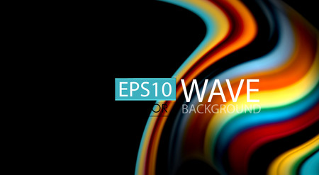 Blur color wave lines abstract background Illustration