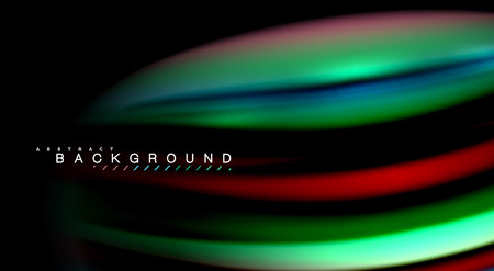 Blur color wave lines abstract background Ilustrace