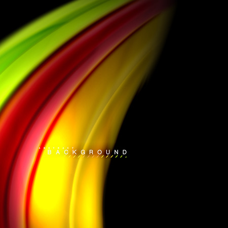 Fluid mixing colors vector wave abstract background design. Colorful mesh waves Vettoriali