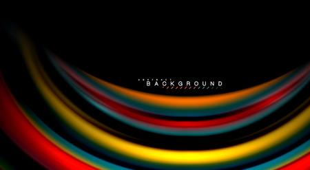 Blur color wave lines abstract background. Vector illustration for app wallpaper, business presentation or web banner Illustration