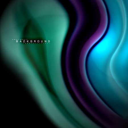 Fluid mixing colors vector wave abstract background design. Colorful mesh waves. Vector illustration