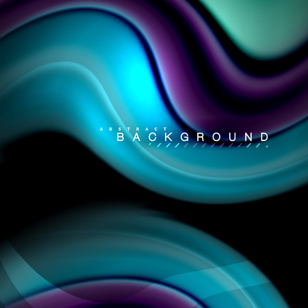 Fluid mixing colors vector wave abstract background design. Colorful mesh waves Illustration