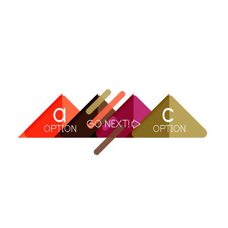 Triangle data visualization design, option infographic layout. Vector illustration