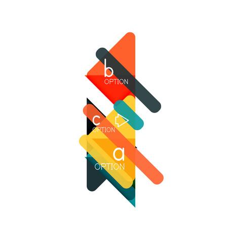 Triangle data visualization design, option infographic layout Illustration