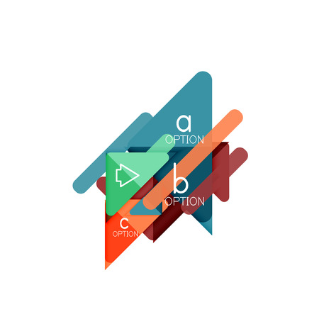 Triangle data visualization design, option infographic layout Illusztráció