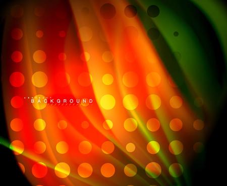 Onda de color fluido holográfico de neón para web, papel tapiz, patrón, textura y fondo Ilustración de vector
