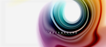 Rainbow fluid colors abstract background twisted liquid design, colorful marble or plastic wavy texture backdrop, multicolored template for business or technology presentation or web brochure cover layout, wallpaper. Vector illustration Reklamní fotografie - 105886089