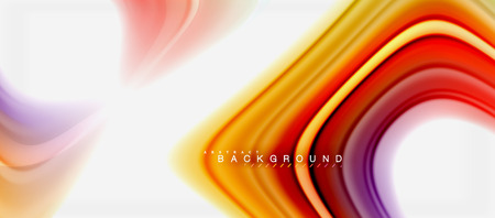 Rainbow fluid colors abstract background twisted liquid design, colorful marble or plastic wavy texture backdrop, multicolored template for business or technology presentation or web brochure cover layout, wallpaper. Vector illustration Reklamní fotografie - 104397623