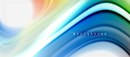 Rainbow fluid colors abstract background twisted liquid design, colorful marble or plastic wavy texture backdrop, multicolored template for business or technology presentation or web brochure cover layout, wallpaper. Vector illustration Reklamní fotografie - 105886909