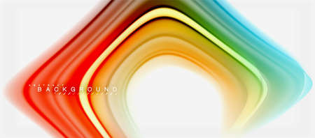 Rainbow fluid colors abstract background twisted liquid design, colorful marble or plastic wavy texture backdrop, multicolored template for business or technology presentation or web brochure cover layout, wallpaper. Vector illustration Reklamní fotografie - 105887473