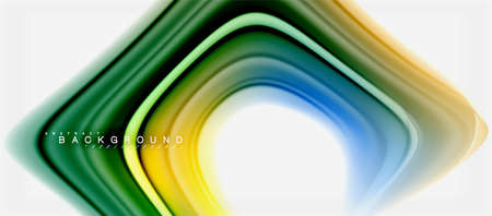 Rainbow fluid colors abstract background twisted liquid design, colorful marble or plastic wavy texture backdrop, multicolored template for business or technology presentation or web brochure cover layout, wallpaper. Vector illustration Reklamní fotografie - 105888135