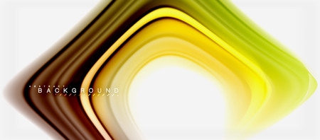 Rainbow fluid colors abstract background twisted liquid design, colorful marble or plastic wavy texture backdrop, multicolored template for business or technology presentation or web brochure cover layout, wallpaper. Vector illustration Reklamní fotografie - 104667526