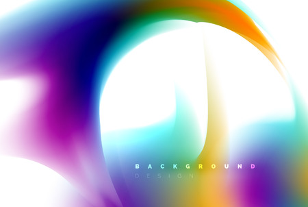 Holographic paint explosion design, fluid colors flow, colorful storm. Liquid mixing colours motion concept, trendy abstract background layout template for business presentation, app wallpaper banner, poster or wallpaper. Vector illustration