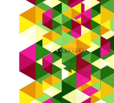 Multicolored triangles abstract background, mosaic tiles concept, vector illustration