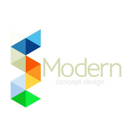 Triangle shape design abstract business logo icon design. Company logotype branding emblem idea. Vector illustration