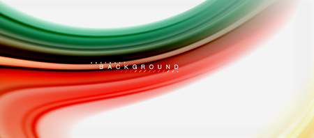 Rainbow fluid colors abstract background twisted liquid design, colorful marble or plastic wavy texture backdrop, multicolored template for business or technology presentation or web brochure cover layout, wallpaper. Vector illustration Reklamní fotografie