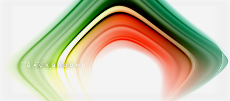 Rainbow fluid colors abstract background twisted liquid design, colorful marble or plastic wavy texture backdrop, multicolored template for business or technology presentation or web brochure cover layout, wallpaper. Vector illustration Ilustrace