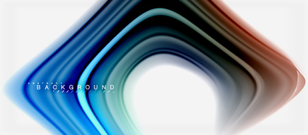 Rainbow fluid colors abstract background twisted liquid design, colorful marble or plastic wavy texture backdrop, multicolored template for business or technology presentation or web brochure cover layout, wallpaper. Vector illustration Reklamní fotografie - 105542629