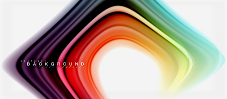 Rainbow fluid colors abstract background twisted liquid design, colorful marble or plastic wavy texture backdrop, multicolored template for business or technology presentation or web brochure cover layout, wallpaper. Vector illustration Stock Photo
