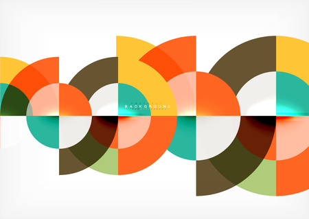 Modern circle abstract background Vectores