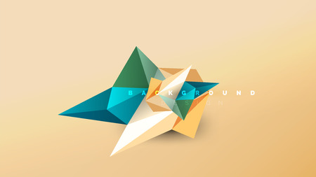 Abstract background - geometric origami style shape composition, triangular low poly design concept. Colorful trendy minimalistic vector illustration Vektorgrafik