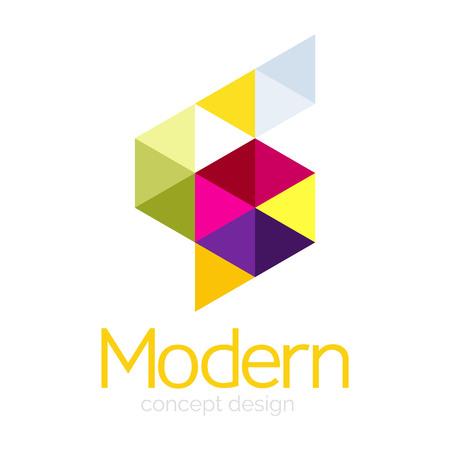 Triangle shape design abstract business icon design. Company branding emblem idea. Vector illustration