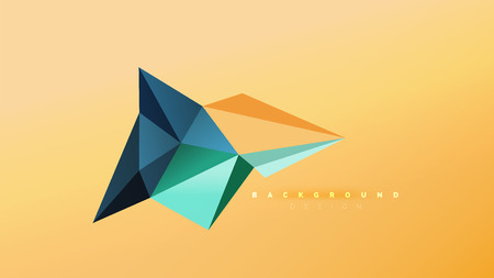 Abstrakter Hintergrund - geometrische Formzusammensetzung im Origami-Stil, dreieckiges Low-Poly-Designkonzept. Bunte trendige minimalistische Vektorillustration