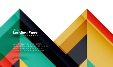 Square shape geometric abstract background, landing page web design template Иллюстрация