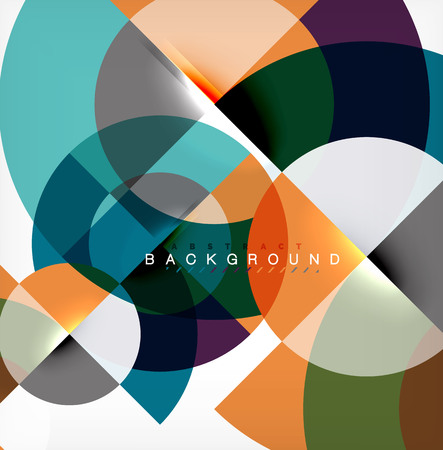 Modern circle abstract background Illustration