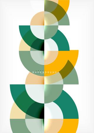 Disegno astratto sfondo cerchio minimo, modello multicolore per presentazione aziendale o tecnologia o layout di copertina brochure web, carta da parati. Illustrazione vettoriale