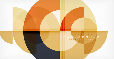 Modern circle abstract background. Vector illustration