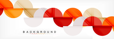 Circle abstract background, geometric illustration